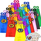 ADJOY Superhero Capes and Masks for Kids - Halloween Party Dress Up Super hero Costume 20 Packs