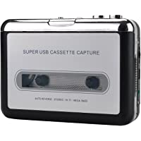 Magideal Cassette-to-MP3 Tape to PC USB CD Converter Capture Digital Audio Aux Music Player