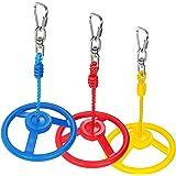 Rainbow Craft 3-Pack Ninja Wheel Obstacle for Kids - Swing Monkey Wheel for Ninja Warrior Obstacle Course for Kids Ninja…