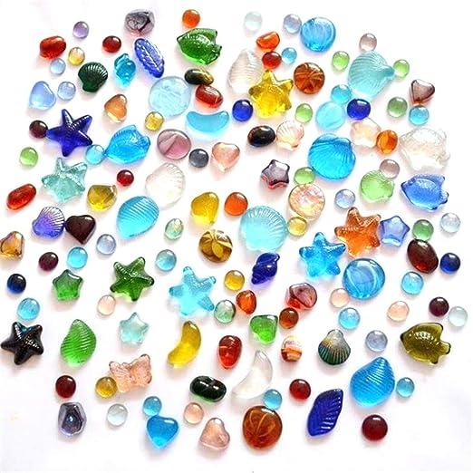 LKXHarleya - 30 Piedras de Cristal Planas para Rellenar jarrones ...