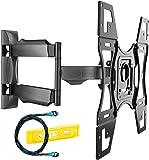 Invision Ultra Slim Orientabile Staffa per il Montaggio a Parete del TV Per la Maggior Parte dei 26-60 Pollici LED LCD Plasma Schermo Curvo Televisori, Max VESA 400x400mm - Include 1,8M Cavo HDMI (A2)