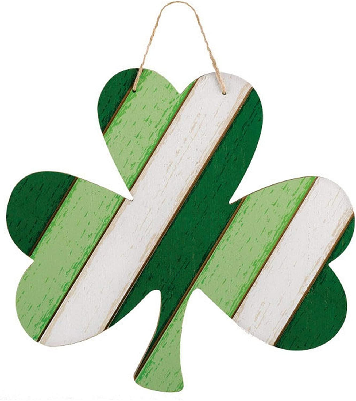 St. Patrick's Day, Shamrock Hanging MDF Sign, 13