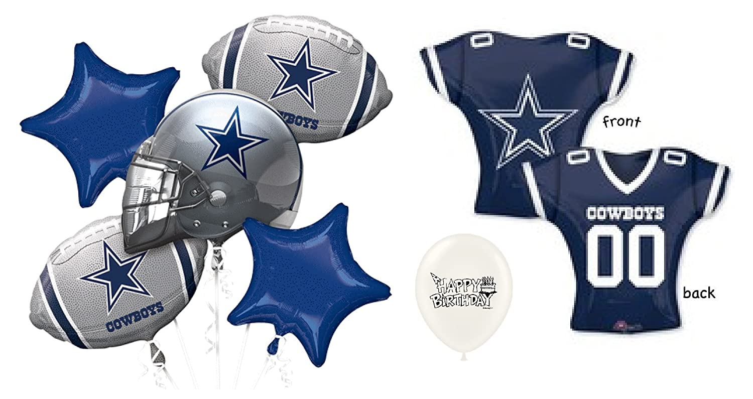 Amazon NFC East Dallas Cowboys 7 Piece Balloon Bouquet Bundle Toys Games
