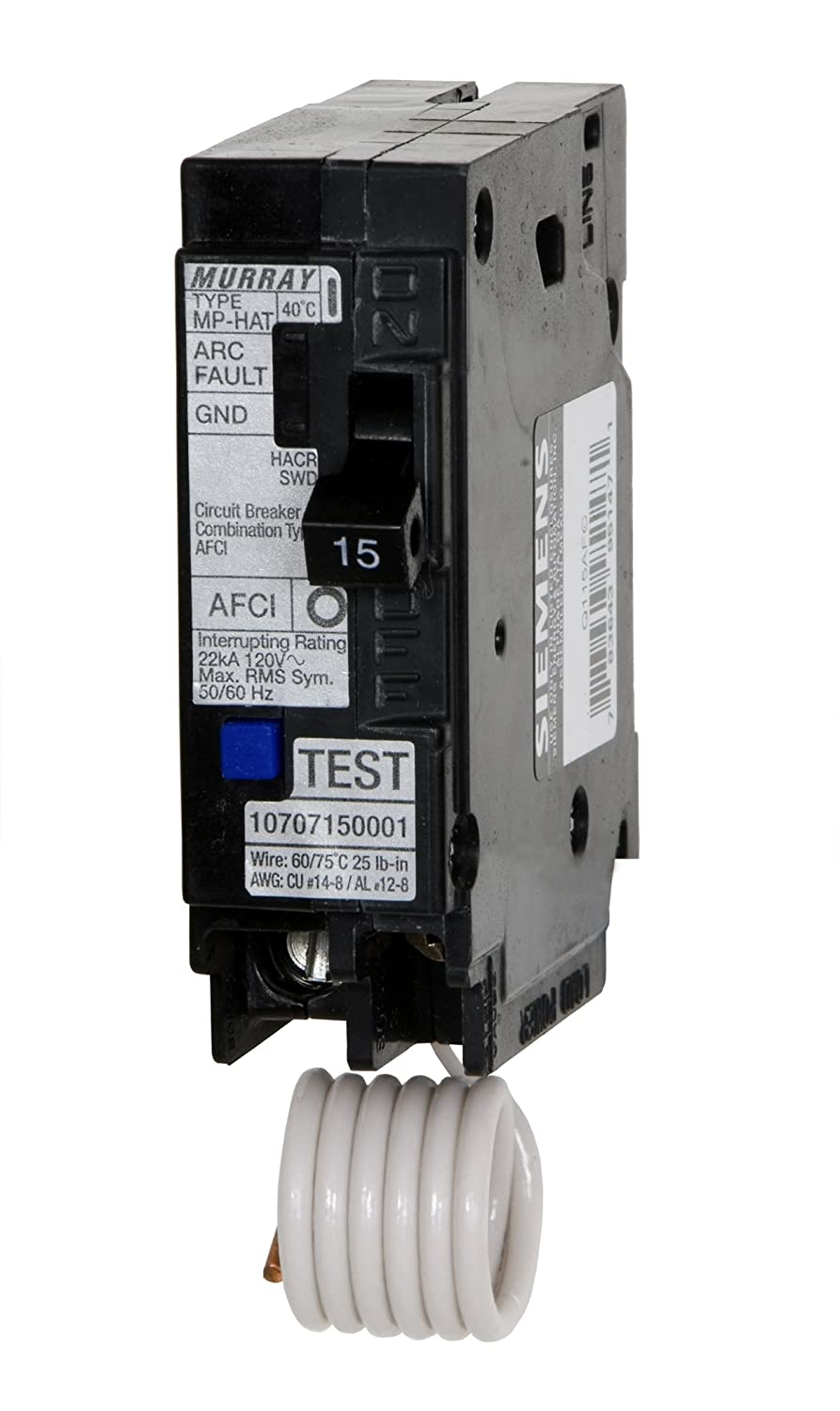 Murray MP120AFC 20-Amp 1 Pole 120-Volt Combination Type Arc Fault Circuit Interrupter