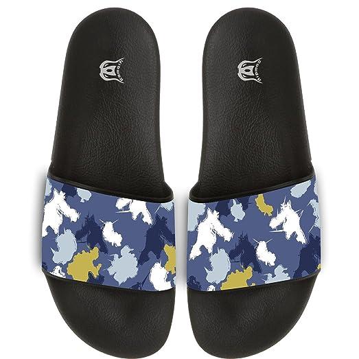 Flower Pattern Slippers Skid-proof Indoor Outdoor Flat Flip Flops Beach Pool Slide Sandals For Men Women