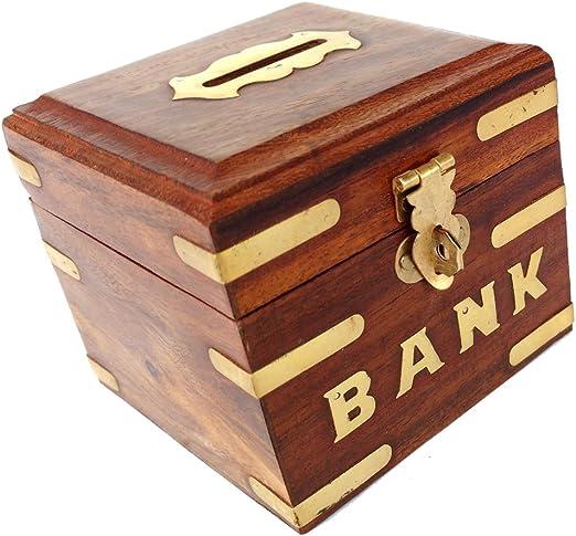 Rastogi artesanías Hucha, caja de madera para niños niñas y ...