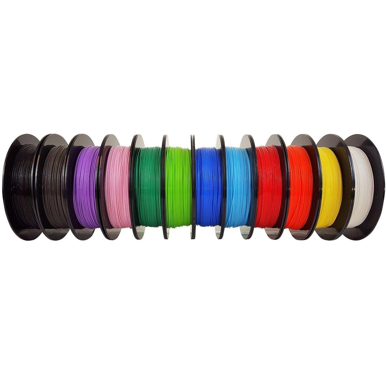 AIO Robotics AIO12BUNDLE Universal Premium Filament Bundle, PLA, Multipack mit beliebten Farben (12 Stü ck) FT1030