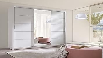 Homedirectltd Schiebetürenschrank Berra Schrank Spiegel Möbel Kleiderschrank Modernes Design Schiebetüren Schlafzimmer Kinderzimmer Jugendzimmer
