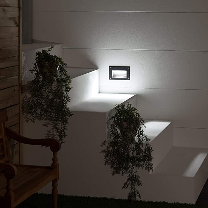 LEDKIA LIGHTING Baliza LED Mystic Acabado Negro 3W Blanco Frío 6000K: Amazon.es: Iluminación