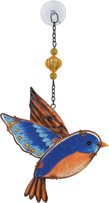 Regal Art & Gift Bluebird Glass Sun Catcher 7.25 x 12.75 Inches