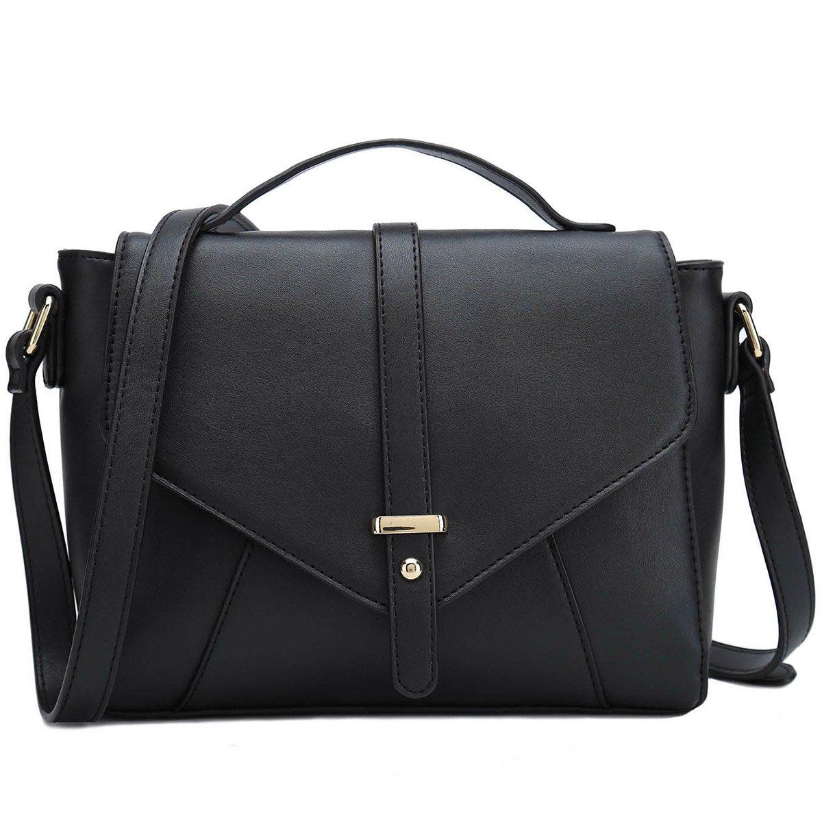 Ladies Designer Purses Cross Body Handbags Trendy Bags for Women Shoulder Bags (Black)