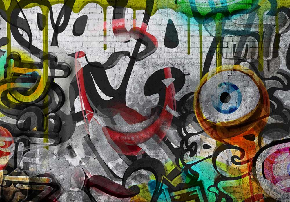 wall26 - Colorful Graffiti - Large Wall Mural, Removable Peel and Stick Wallpaper, Home Decor - 100x144 inches by wall26 (Image #2)