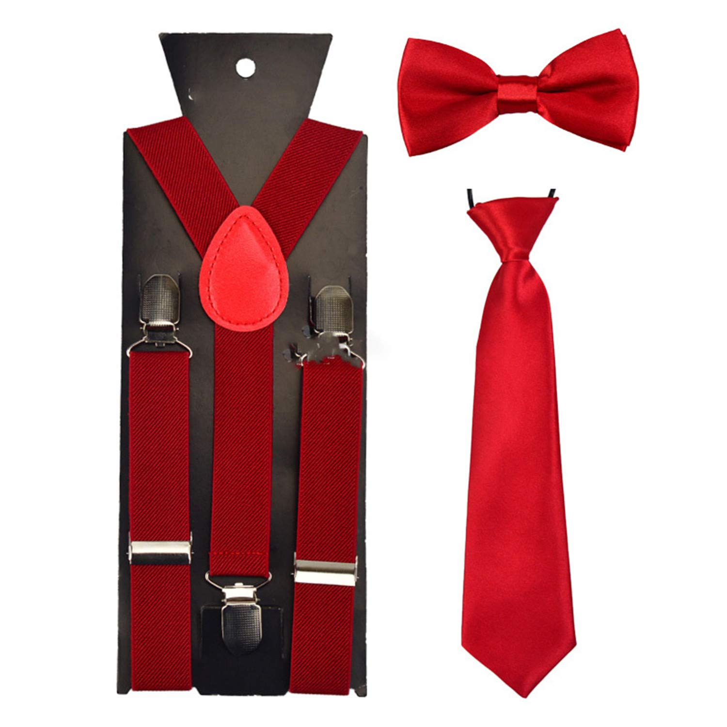 Fashion Boys Girl kid Suspender Adjustable Elastic Y-Back Braces Baby BowTie Butterfly Suspenders Set Bow Tie NeckTie Wedding