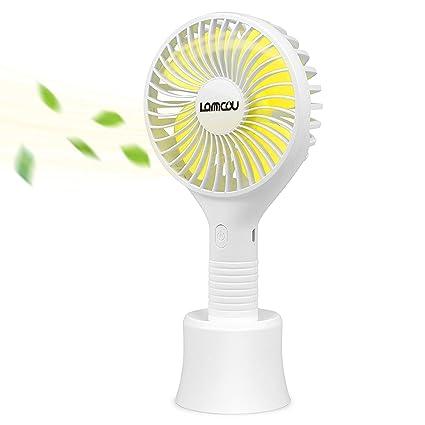 Portable Cartoon Small Fan Three-speed Large Wind Night Light Desktop Charging Mini Handheld Small Fan Household Appliances Fans