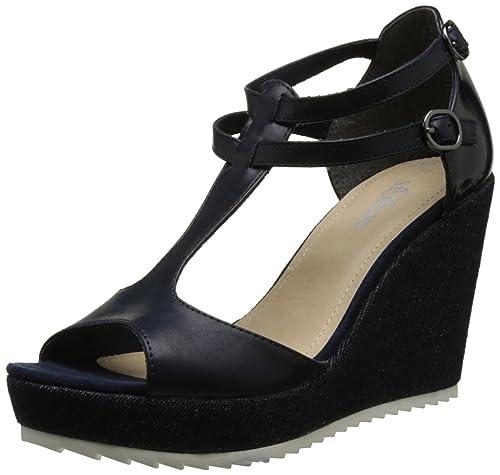 sale retailer 831aa 00d7c s.Oliver Women's 28316 Wedge Heels Sandals