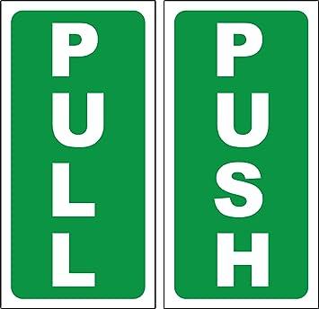 PUSH - PULL DOOR SIGN / STICKER SELF ADHESIVE 180mm x 90mm  sc 1 st  Amazon UK & PUSH - PULL DOOR SIGN / STICKER SELF ADHESIVE 180mm x 90mm: Amazon ...