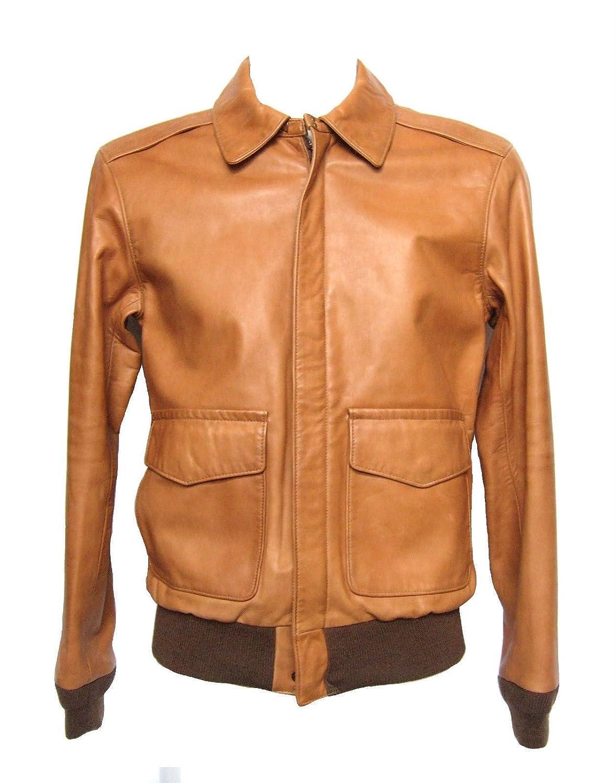 A2 Flight Jacket Leather Bomber Ralph Polo Farrington Tan Lauren 0XnwPkZN8O