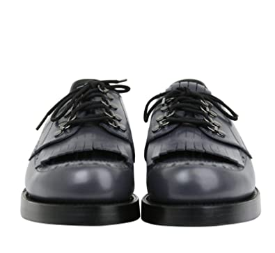 ba73f28bab3 Amazon.com  Gucci Fringed Brogue Bluish Gray Leather Lace-Up Shoes 358271  1107  Shoes