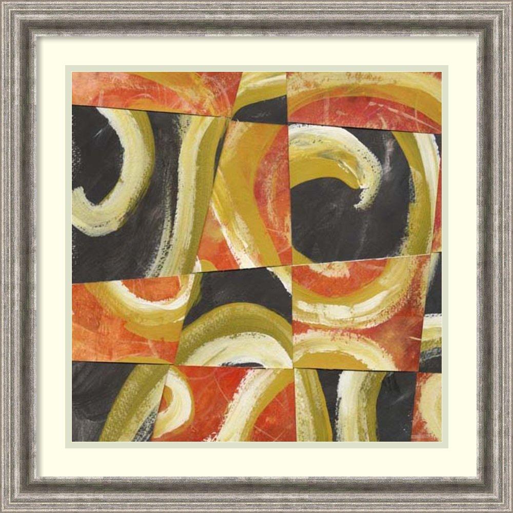 Amazon.com: Framed Art Print \'Fire & Slate II\' by Lisa Choate ...