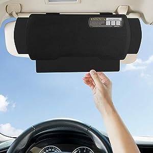 WANPOOL Car Visor Sunshade Extender, Window Shade, Anti-Glare Sun Blocker for Driver or Front Seat Passenger,1 Piece