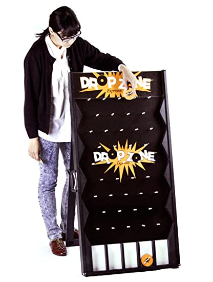 Drop Zone Express Portable Customizable Carnival Game Board With Pucks Durable Steel Pegs Family Fun Prize Winning Activity Great For Trade