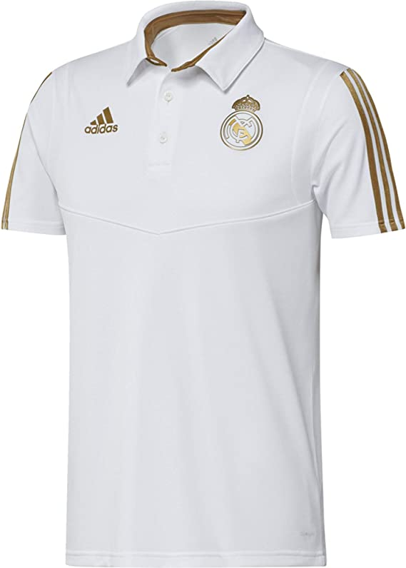 adidas Real Madrid Camiseta Polo, Unisex Adulto, Blanco (White/Dark Football Gold), S: Amazon.es: Deportes y aire libre