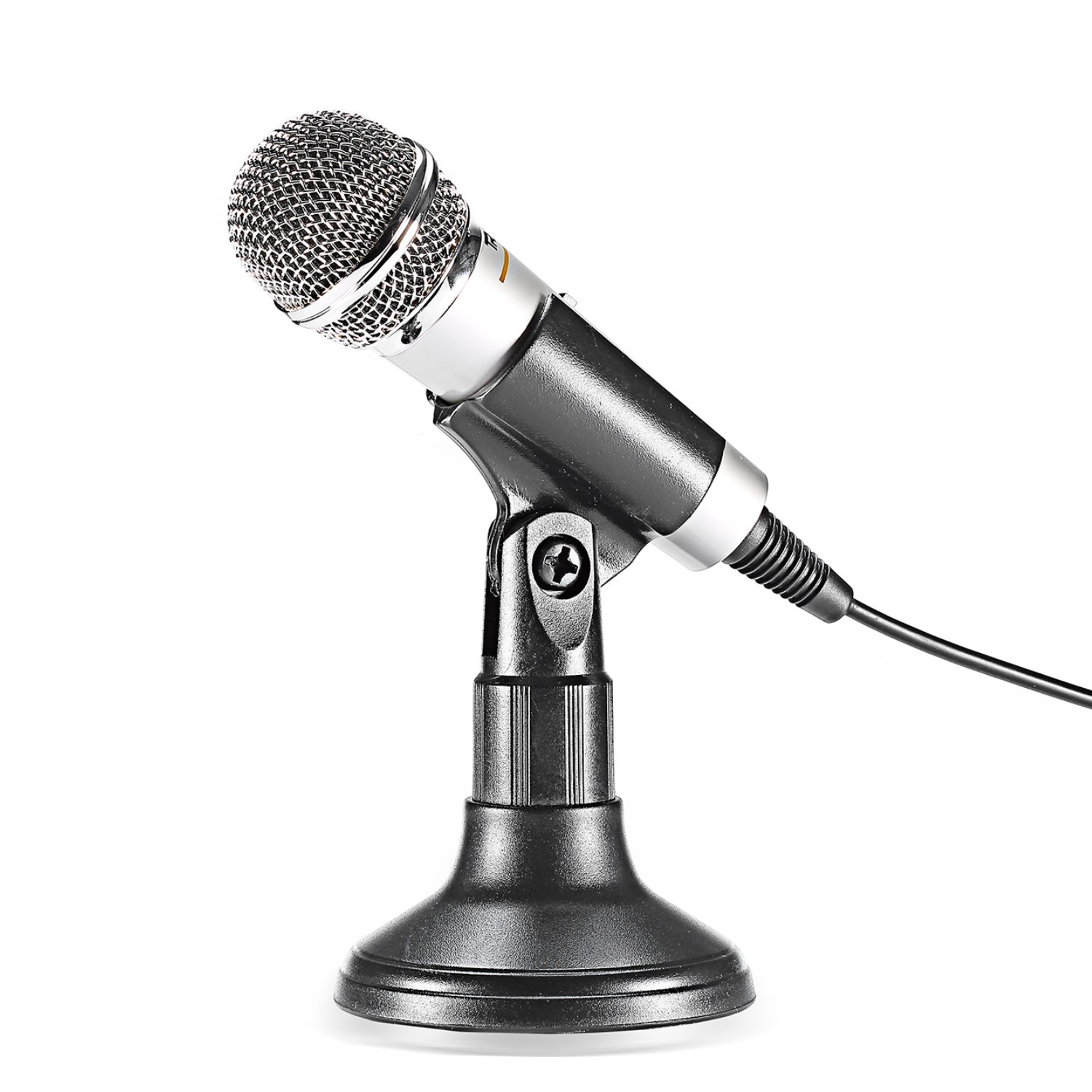 Neewer NW-308 3.5MM Desktop Microphone with Stand and 3.5MM Stereo Plug for PC Computer or Laptop, Ideal for Whatsapp/QQ/MSN/SKYPE Internet Chat, Podcast, Singing, Recording or More