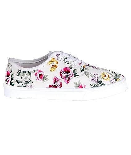 KRISP 4625-WHT-3  Damen Sneaker (Weiß, Gr.36)  Amazon.de  Schuhe ... 219da6c43a