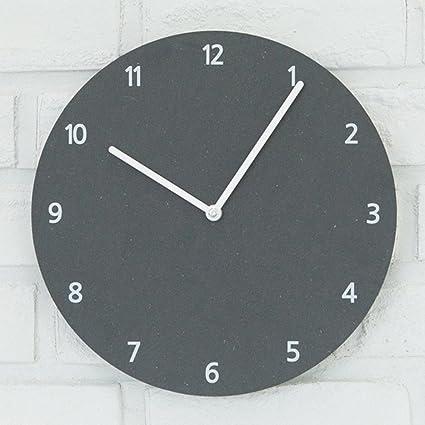 Caivowl Reloj De Pared Moderno Reloj Digital De Pared De Madera En Silencio Por No Marcando