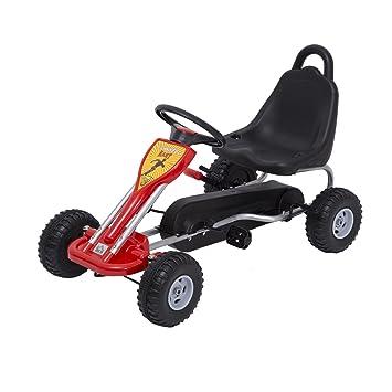 HOMCOM Kids Ride Pedal Go-kart Gokart Go Kart Pedal Outdoor Toy ...