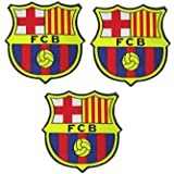 3 Pieces Soccer Team Patches Sew On/Iron On Football Club Emblem Sports Applique Accessories Decoration Patches for…