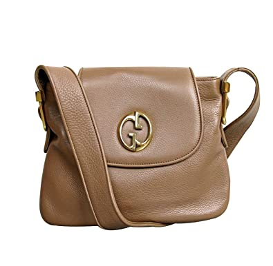 b53cf9b846ad Amazon.com: Gucci Womens 1973 Brown Leather Shoulder Bag Handbag 251809:  Shoes
