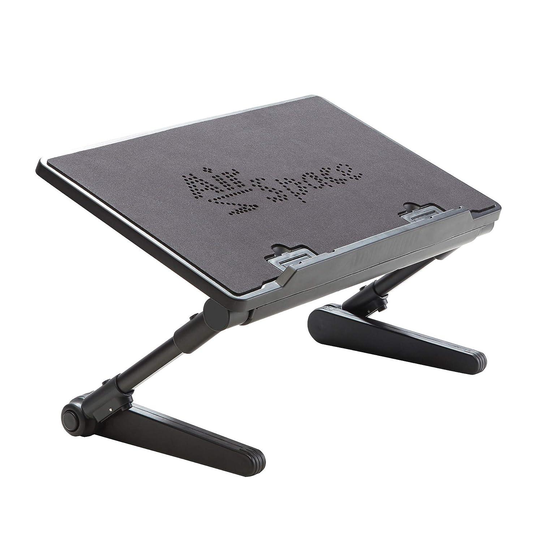 Adjustable Laptop Stand & Computer Desk Has Built-in Cooling Fan ...