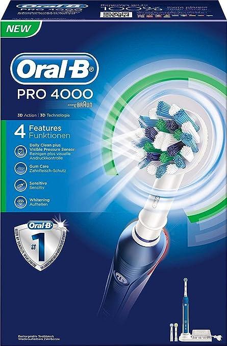 Oral-B PRO 4000 - Cepillo eléctrico recargable