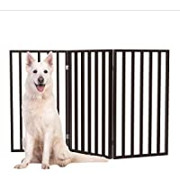 PETMAKER Pet Gate Collection – Dog Gate for Doorways, Stairs or House – Freestanding, Folding, Accordion Style, Wooden…