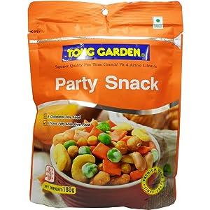 Cripy Party Snack Premium Grade Net Wt 180g (6.35 Oz.) Tong Garden Brand X 2 Bags