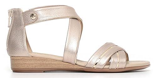 Sandali NeroGiardini P805640D 672 5640 scarpe donna in pelle beige