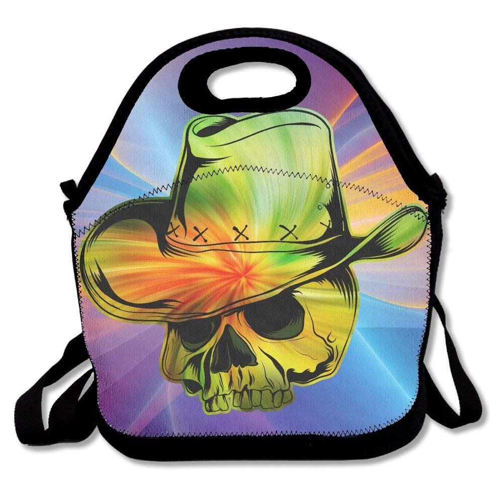 635cfb1db0e5 Amazon.com: Flyss French Flag France Skull Lunch Tote Insulated ...