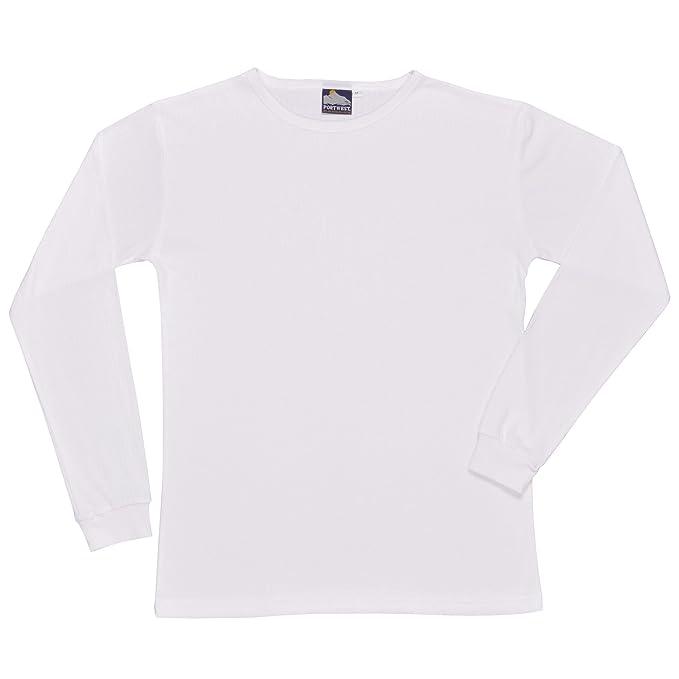Portwest - Camiseta térmica interior manga larga Modelo (B123) hombre caballero (Pequeña (