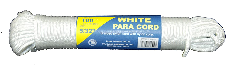 T.W Evans Cordage 79-101 Para Cord 100-Feet White T.W Evans Cordage Co.