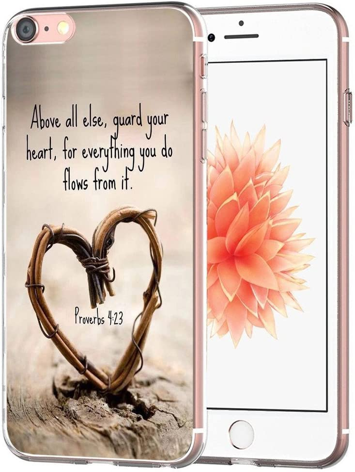 Case for iPhone SE/7/8 Bible Protective - Topgraph [Exact Slim Fit Clear with Design Full Coverage] Bumper Compatible for iPhone 8/7/SE 2(SE 2020) [Christian Songs]