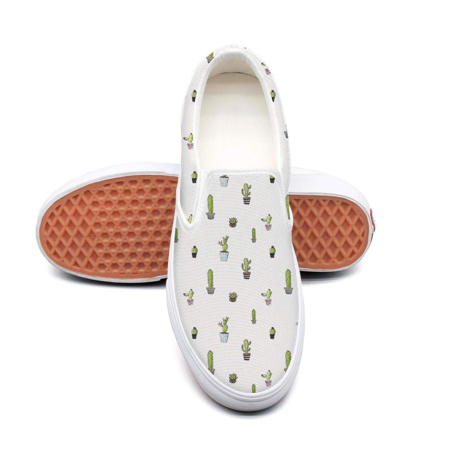 Mincactus Travel Blossom Slip On Rubber Sole Sneakers Canvas Shoes for Women Comfortable