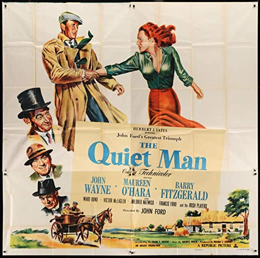 Movie Cinema Poster Art Print THE QUIET MAN 1952 John Ford John Wayne