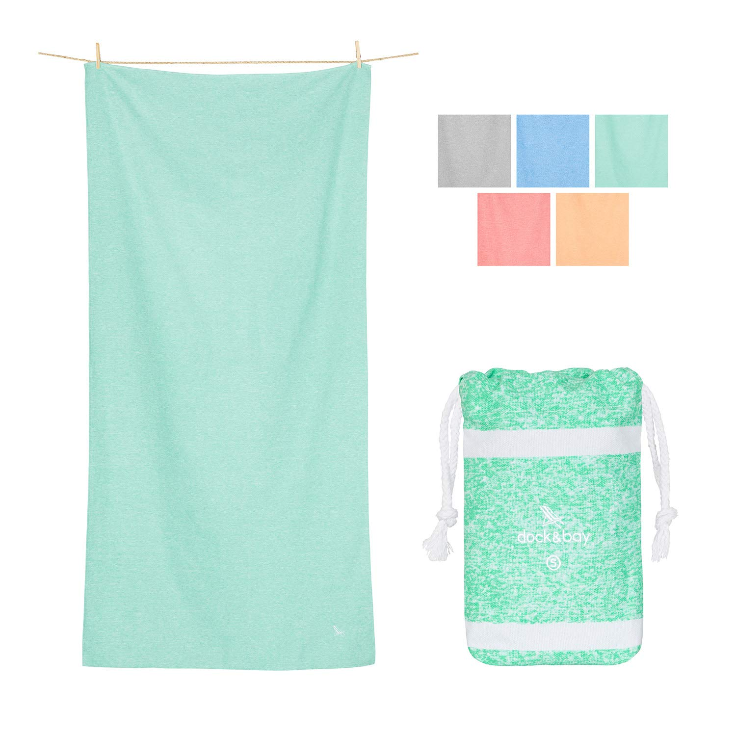 Small Quick Dry Gym Towel - Rainforest Green, 40 x 20 - Gym, Sports & Workout - Microfibre Gym Towels
