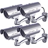 IDAODAN Dummy Security Camera, Fake Cameras CCTV Surveillance System with Realistic Simulated LEDs for Home Security…