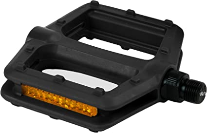"""New 1//2/"""" Black Plastic Old School BMX Bike Freestyle Bicycle Pedals"""