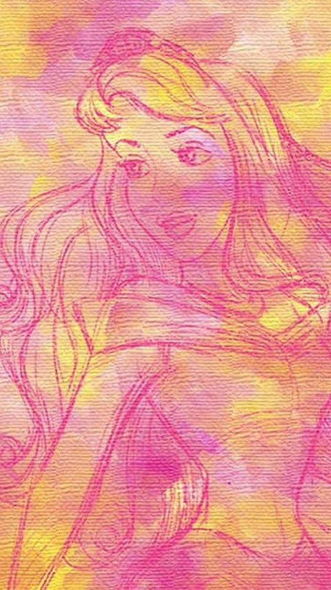ディズニー オーロラ姫 XFVGA(480×854)壁紙画像