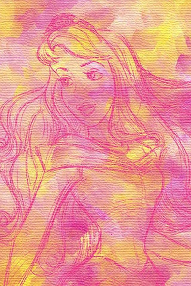 ディズニー オーロラ姫 iPhone(640×960)壁紙画像