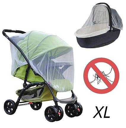 Baby XL universal de protección contra insectos para carrito y bebé Cuna con goma elástica,