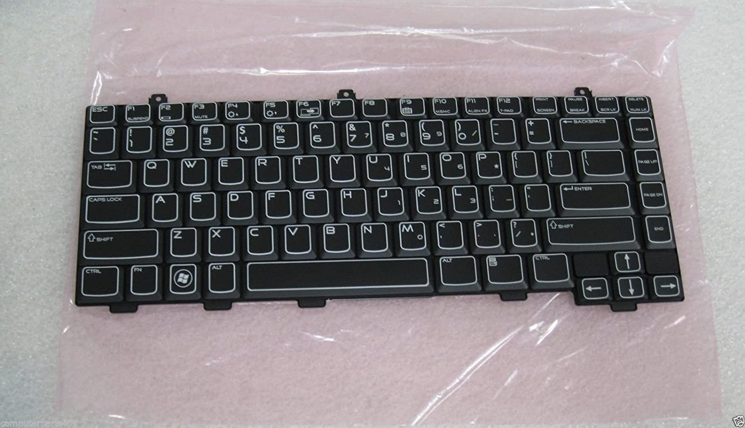 Dell OEM MT749 Backlit Black Keyboard Alienware M15X